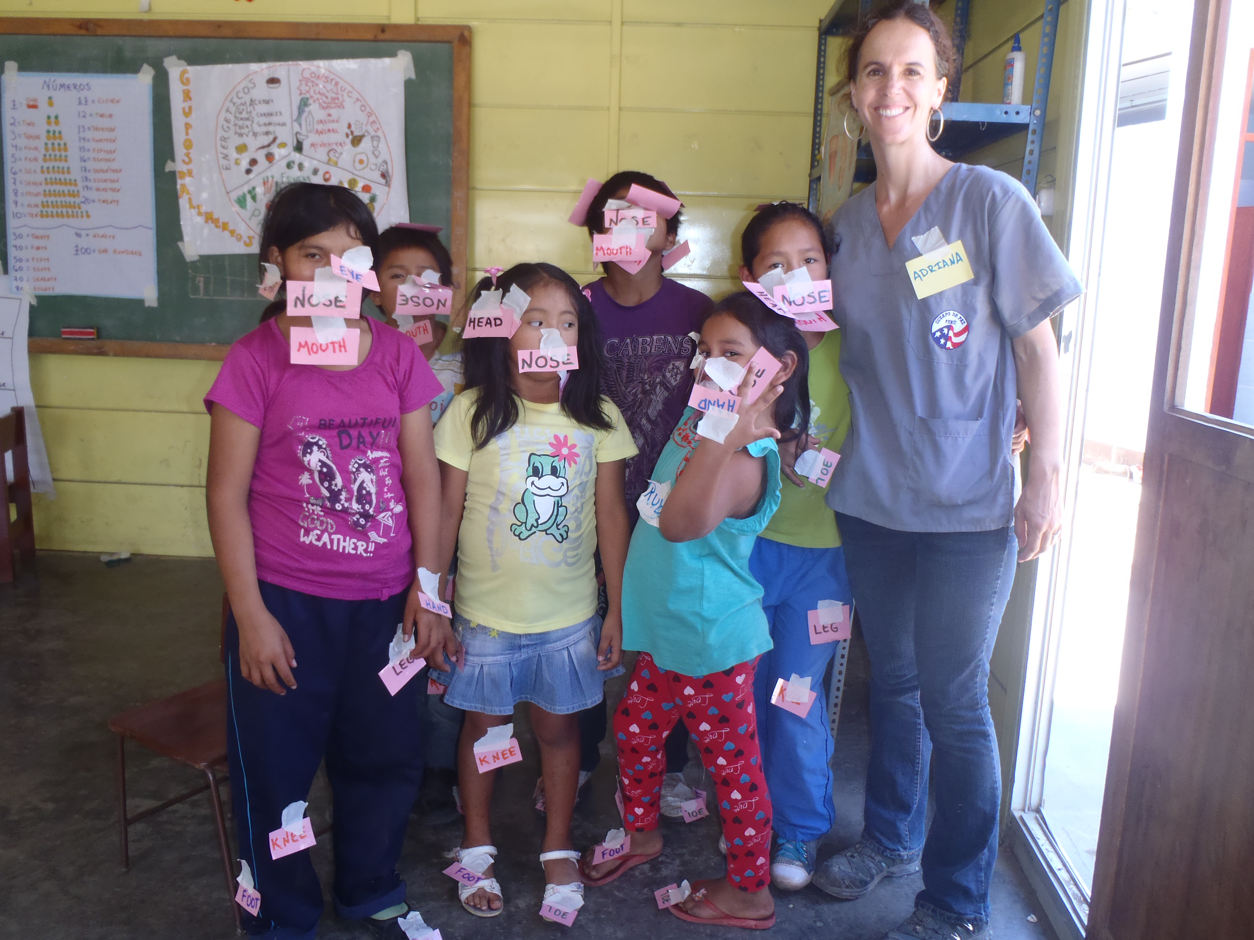 Learning The Body Parts In English With Profesora Adriana Ardent Peruvian